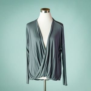 Prana M Cascade Wrap Long Sleeve Top
